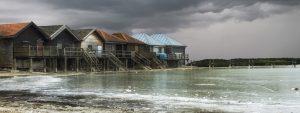 houses on a beach