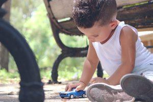 Safe kid playing