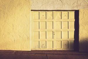 outdoor storage unit door