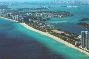 Aerial view of Miami.