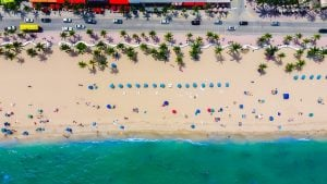Bird's-eye view of one of Florida's many beaches