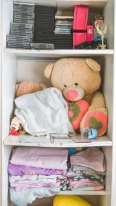 cupboard with sleves you can use to pack your child's room