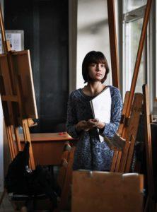 Artist in a studio.