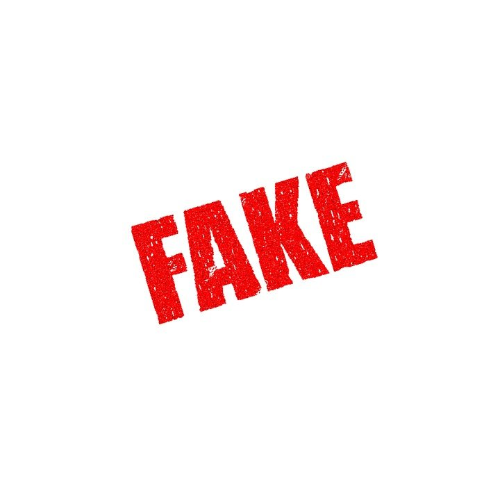 a sign that says FAKE