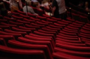 Red seats in Miami's theater