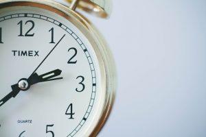 White clock