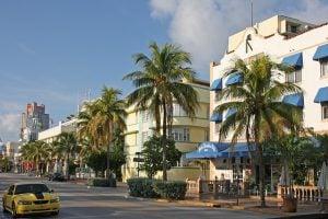 Art Deco buildings in Miami.