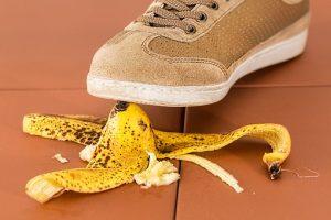 banana peel on a floor