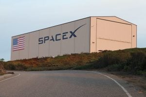A SpaceX hangar in Florida.