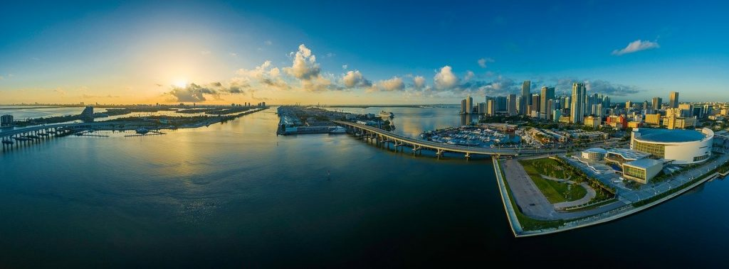 Panorama of Miami Florida