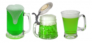 green beer at St Patrick's Day events in Miami