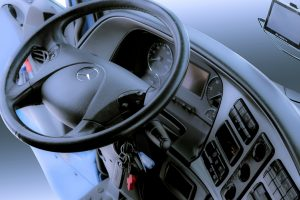 Picture of a truck steering wheel