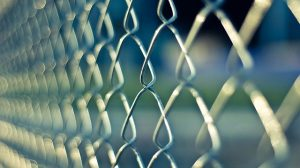 a chain fence