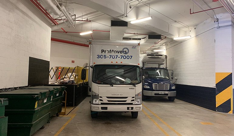 Our truck ready to safely transfer the items of our clients.
