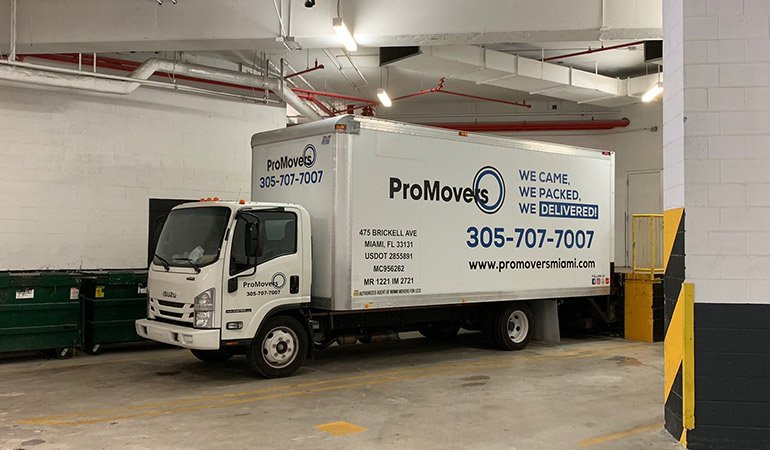 Our moving truck that is ready to be driven any distance,