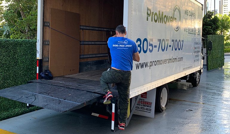 A mover and a truck.