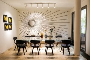 Luxury furniture in a dining room
