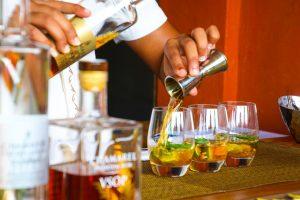 mixologist making cocktails