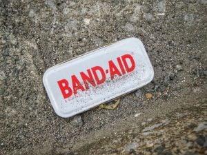 A band-aid logo