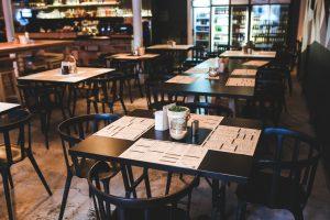 Empty restaurant.