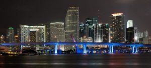 Miami at night