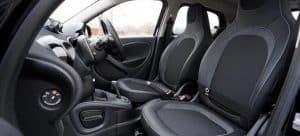 A car interior.