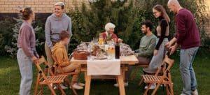 A family talking.