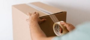 Packing tape for the box.