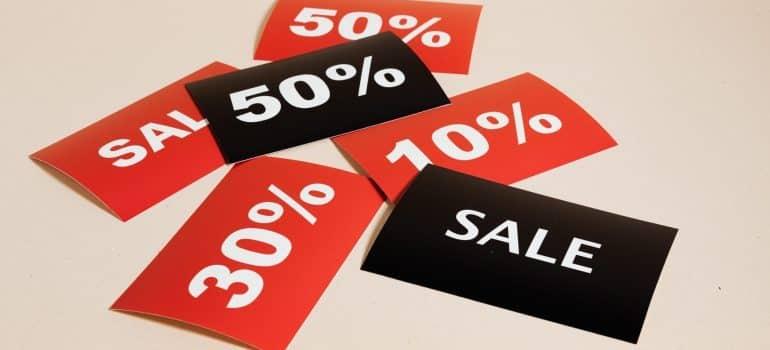Various discounts.