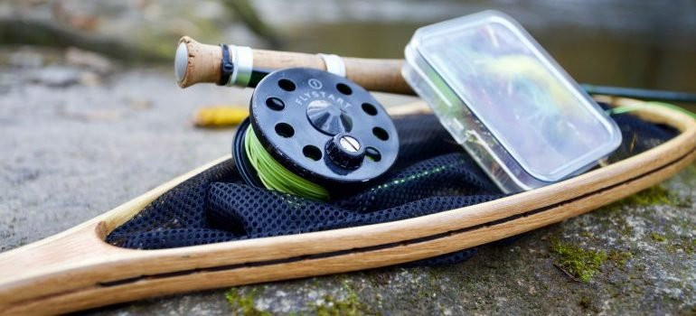 you must safely pack fishing equipment for an interstate move