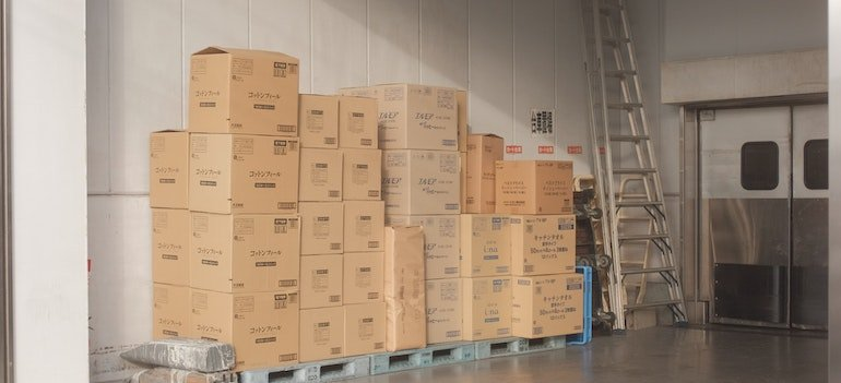 moving boxes in storage