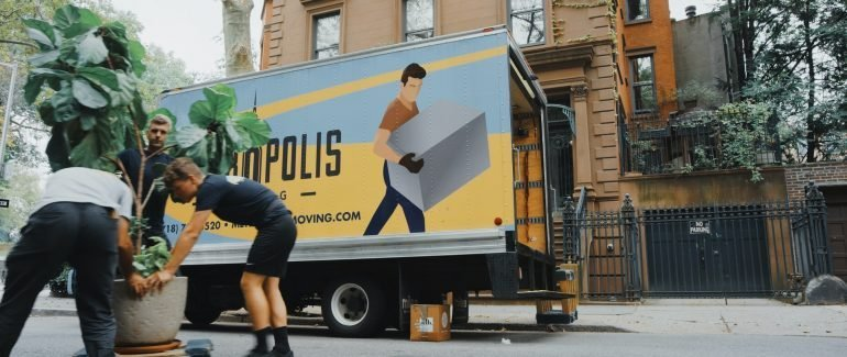 An insured moving company