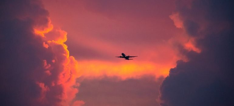 A plane in the sky
