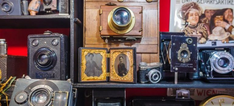 a collection of antiques ready for luxury moving