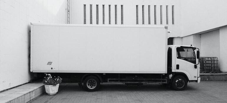 Moving antique furniture with a white truck
