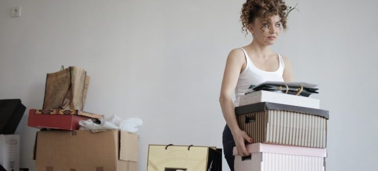 a girl moving